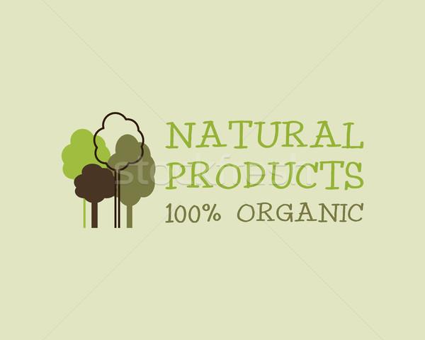 Organik eco yeşil logo şablon can Stok fotoğraf © JeksonGraphics