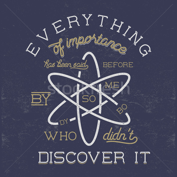 Klasszikus tudomány poszter törvény atom ikon Stock fotó © JeksonGraphics