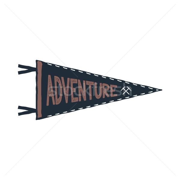 Adventure дизайна монохромный шаблон типографики изолированный Сток-фото © JeksonGraphics