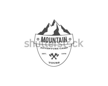 Klasszikus hegy trekking mászik kirándulás kempingezés Stock fotó © JeksonGraphics