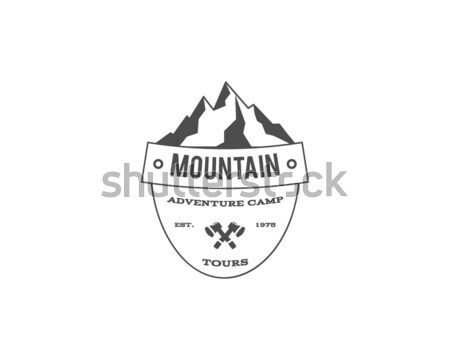 Vintage montagne trekking escalade randonnée camping Photo stock © JeksonGraphics