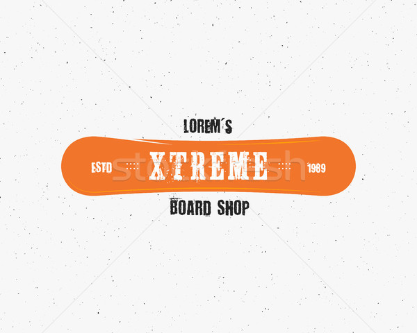 Snowboarding extreme shop logo, label templates Winter snowboard sport store badge. Emblem and icon. Stock photo © JeksonGraphics