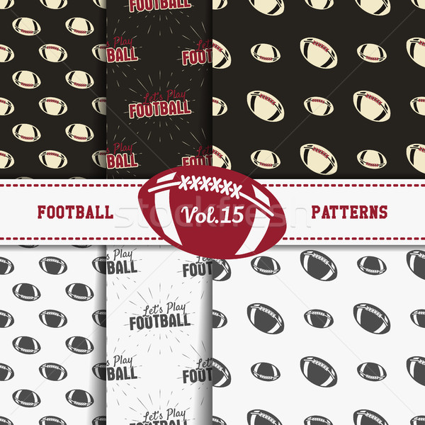 Set of american football patterns. Usa sports seamless background collection. Sport wallpaper with b Stock photo © JeksonGraphics