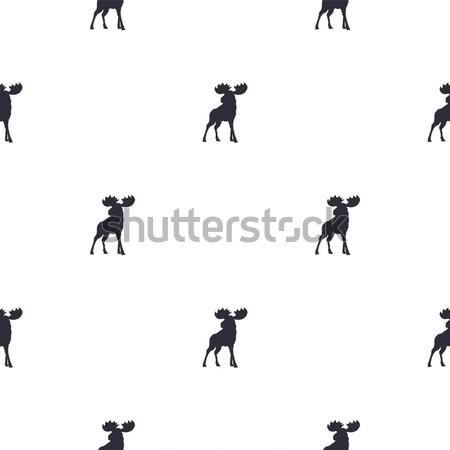 Eland patroon symbolen naadloos iconen Stockfoto © JeksonGraphics