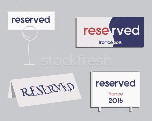 Foglalás felirat Franciaország 2016 futball terv Stock fotó © JeksonGraphics