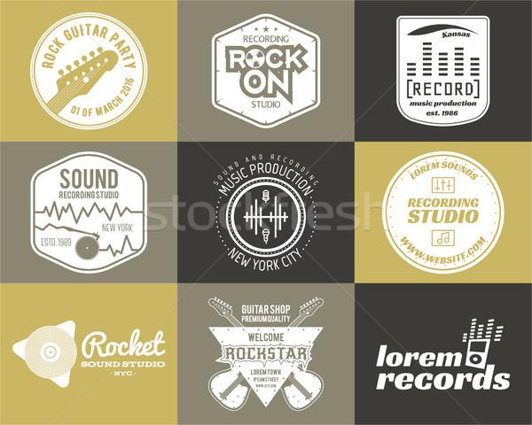 Szett vektor zene gyártás logo musical Stock fotó © JeksonGraphics