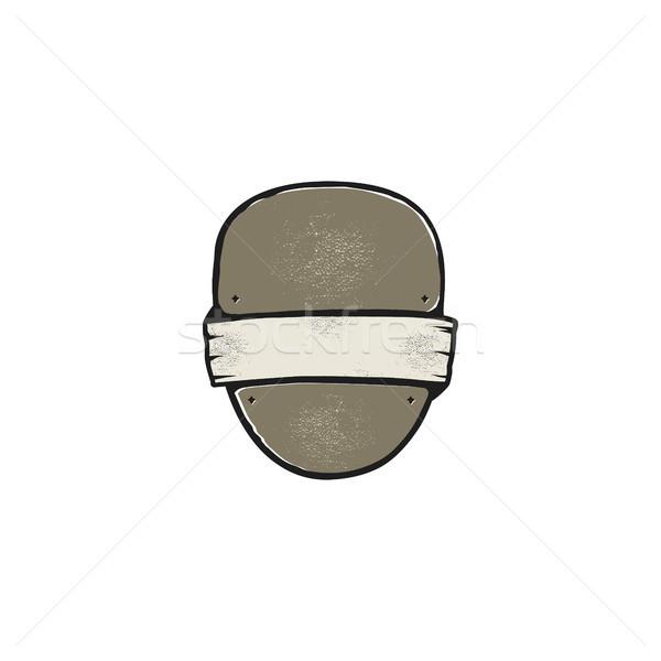 Vintage marco forma forma logo etiqueta Foto stock © JeksonGraphics