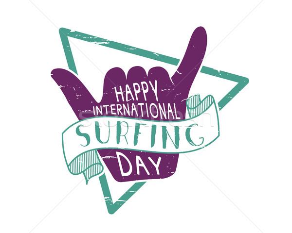 лет международных серфинга день 2016 татуировка Сток-фото © JeksonGraphics