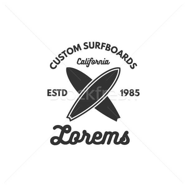 Vintage Surfing tee design. Retro t-shirt Graphics and Emblem for web design or print. Surfer, beach Stock photo © JeksonGraphics