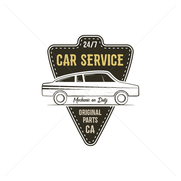 Car service label. Vintage tee design graphics, retro colors typography print. Custom t-shirt stamp, Stock photo © JeksonGraphics