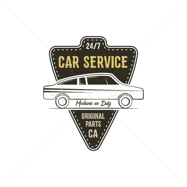 Auto dienst label vintage ontwerp graphics Stockfoto © JeksonGraphics
