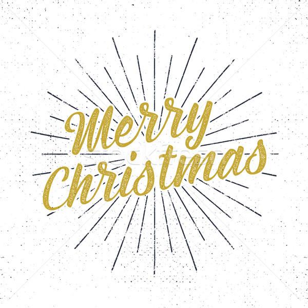 Allegro Natale vacanze tipografia illustrazione lettere Foto d'archivio © JeksonGraphics