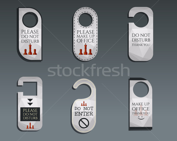 Business management consulting Door knob or hanger sign set- do not disturb design. Best for managem Stock photo © JeksonGraphics