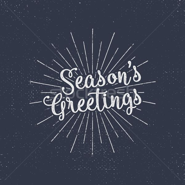 Alegre Navidad estaciones vacaciones tipografía Foto stock © JeksonGraphics
