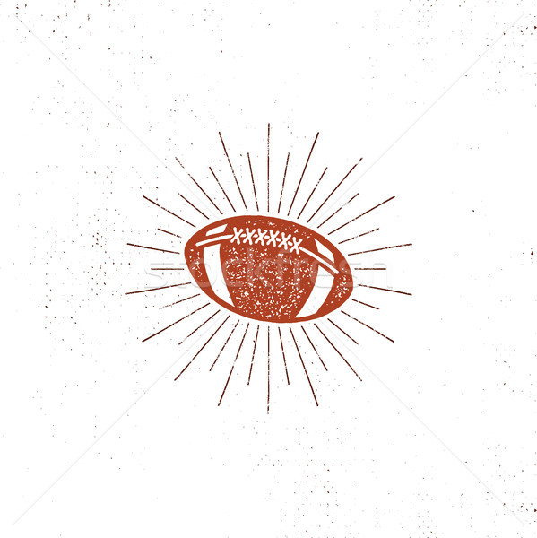 american football bal illustration, icon. Retro design. Usa sports pictogram with sunbursts isolate Stock photo © JeksonGraphics