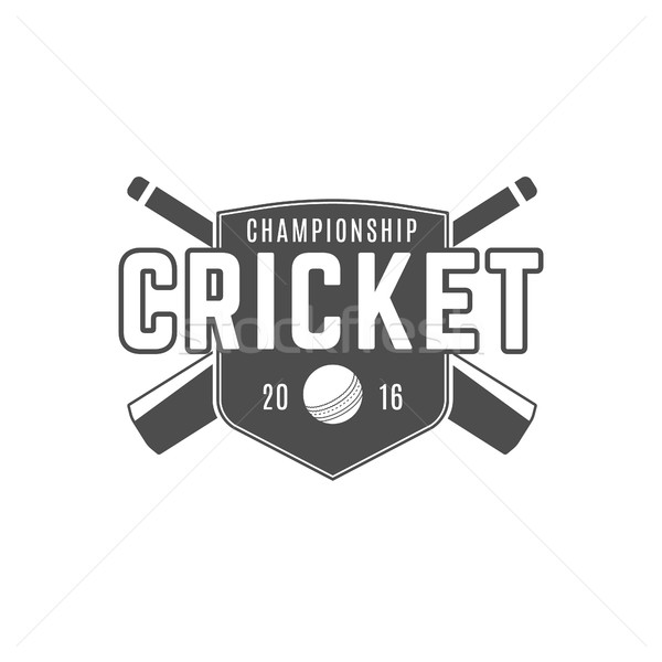 Cricket team emblem and design elements.  championship logo .  club badge. Sports symbols with  gear Stock photo © JeksonGraphics
