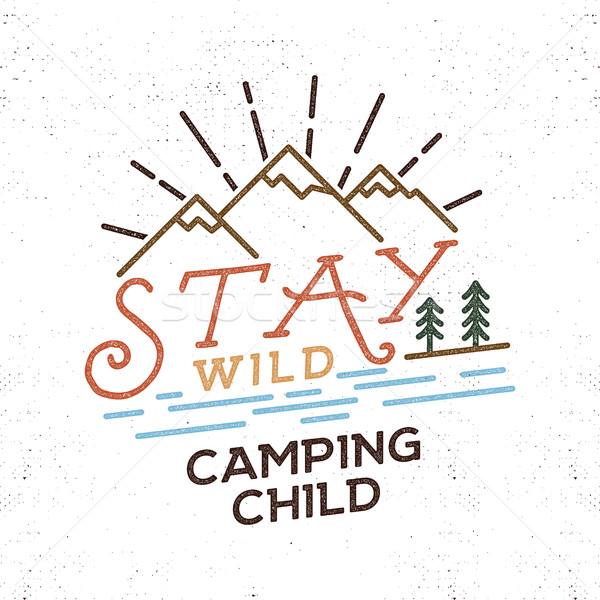 Stok fotoğraf: Kalmak · kamp · çocuk · eski · okul