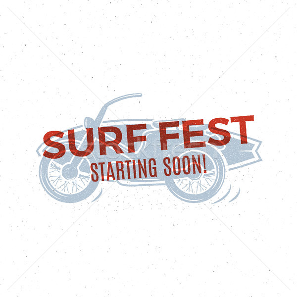 Vintage Surfing tee design. Retro Surf fest t-shirt Graphics and Emblem for web or print. Surfer mot Stock photo © JeksonGraphics
