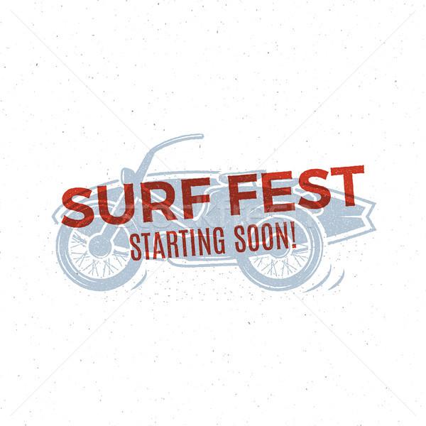 ヴィンテージ サーフィン デザイン レトロな サーフィン Tシャツ ストックフォト © JeksonGraphics