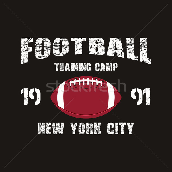 Football nouvelle formation camp badge Photo stock © JeksonGraphics