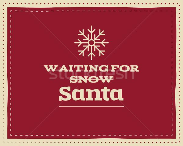 Christmas funny podpisania zacytować projektu Zdjęcia stock © JeksonGraphics