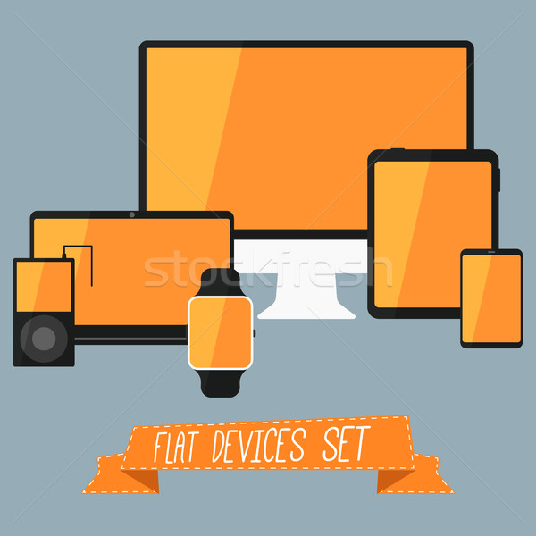 Flat Devices Set Stock photo © JeksonGraphics