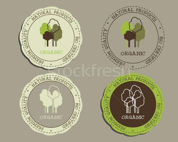 Orgánico logo plantillas insignias naturales tienda Foto stock © JeksonGraphics