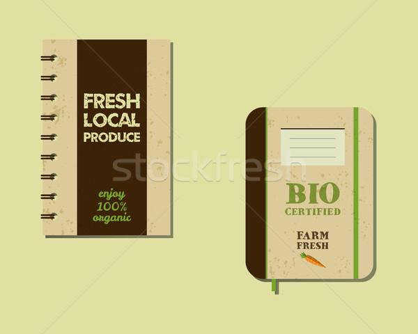 Stijlvol boerderij vers merk boek notebook Stockfoto © JeksonGraphics