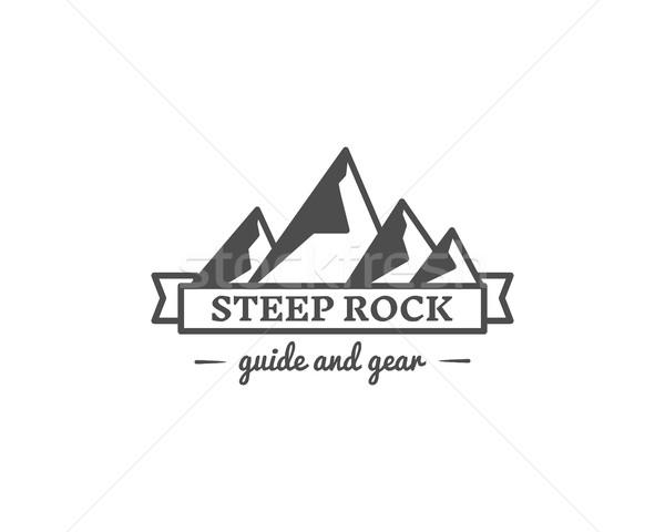 Retro obozu odznakę odkryty logo godło Zdjęcia stock © JeksonGraphics