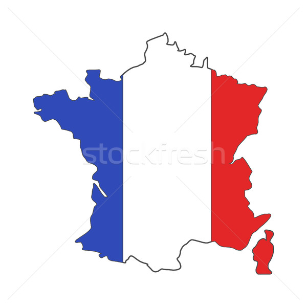 France euro championship 2016 flag design. Football background. Isolated France map wih official col Stock photo © JeksonGraphics