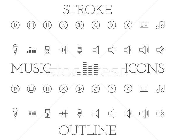 音楽 単純な 薄い 行 ストックフォト © JeksonGraphics