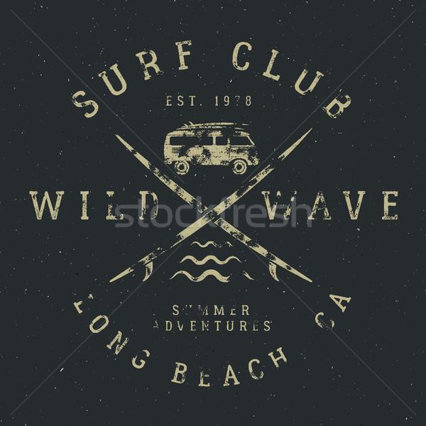 Surfe projeto vintage borracha estilo surfar Foto stock © JeksonGraphics