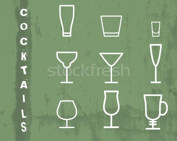 напиток вектора тонкий линия символ икона Сток-фото © JeksonGraphics