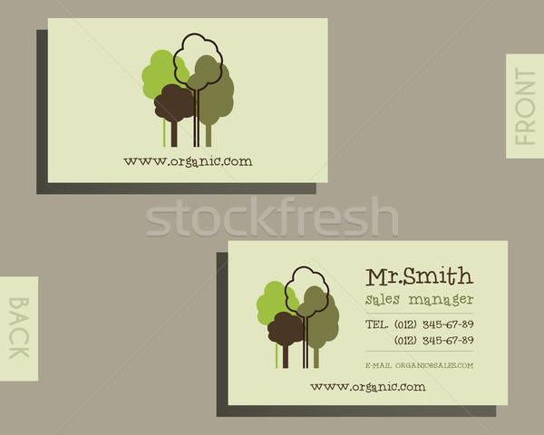 öko organikus kártya sablon természetes bolt Stock fotó © JeksonGraphics