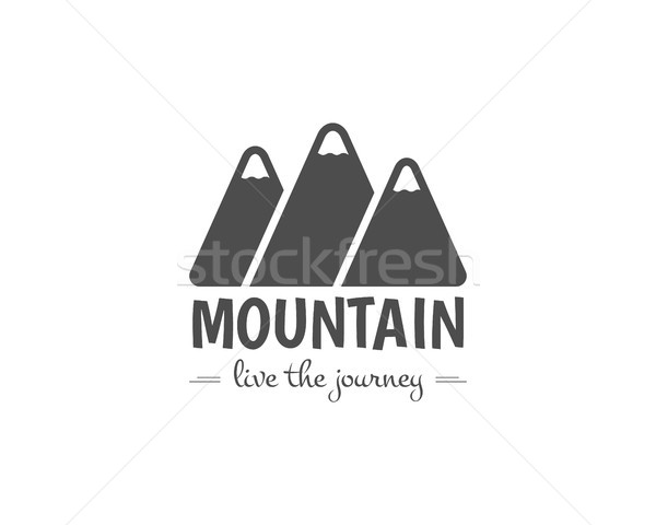 Vintage mountain camping badge, outdoor logo, emblem and label. Like the journey concept, monochrome Stock photo © JeksonGraphics