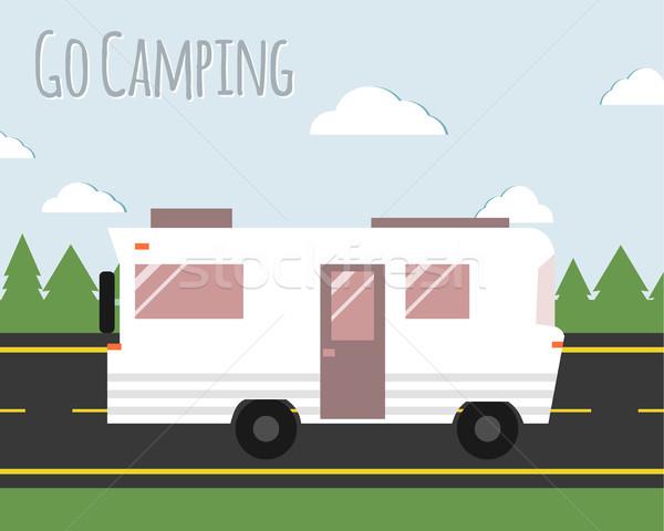 ストックフォト: 夏 · キャンプ · 実例 · サマーキャンプ · 旅行 · ポスター