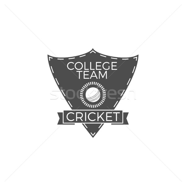 Cricket college team embleem schild logo-ontwerp Stockfoto © JeksonGraphics