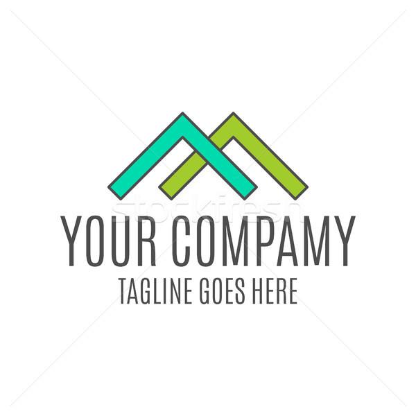 Gayrimenkul logo tasarımı emlâkçı ikon bilgi grafik Stok fotoğraf © JeksonGraphics