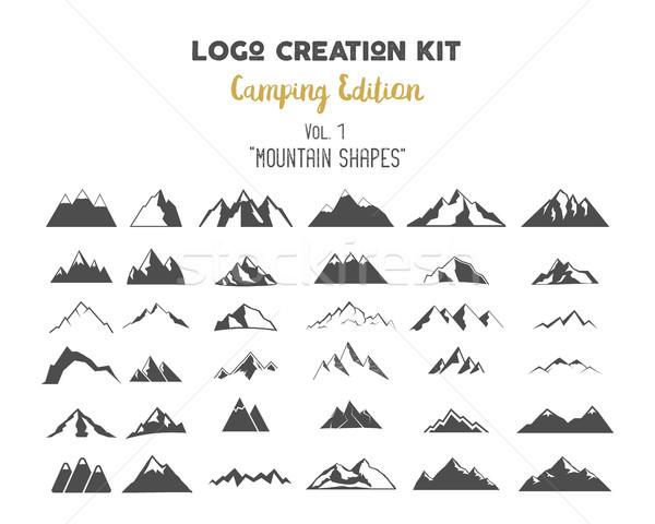 Logo oluşturma kamp ayarlamak dağ Stok fotoğraf © JeksonGraphics