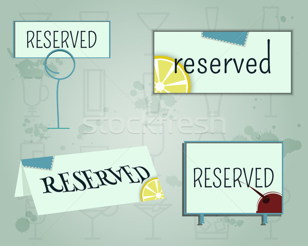 Rezerwacja podpisania w górę szablon lata cocktail party Zdjęcia stock © JeksonGraphics