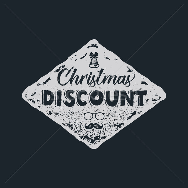 Christmas discount lettering and typography elements. Holiday Online shopping type quote. Stock vect Stock photo © JeksonGraphics