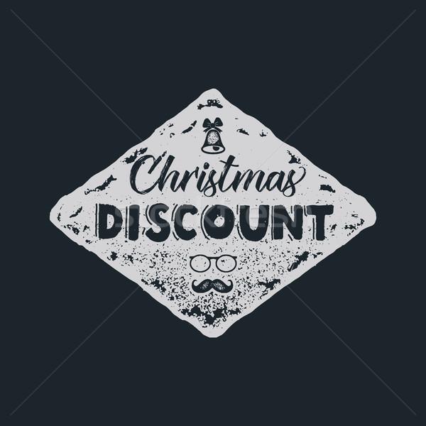 クリスマス 割引 タイポグラフィ 要素 休日 オンラインショッピング ストックフォト © JeksonGraphics