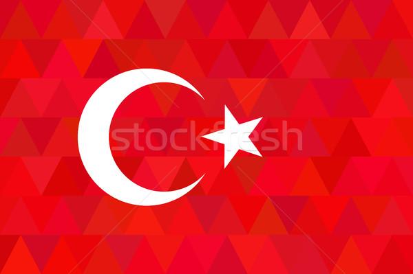 Türkiye bayrak olağandışı kırmızı dizayn orijinal Stok fotoğraf © JeksonGraphics