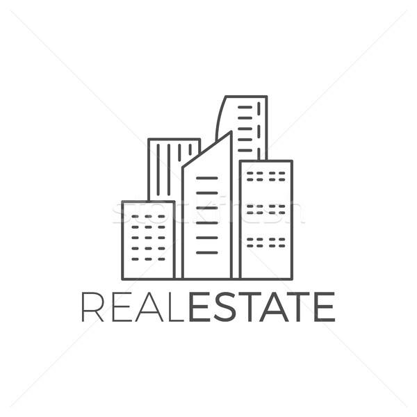 Сток-фото: вектора · современных · дома · дизайн · логотипа · недвижимости · икона