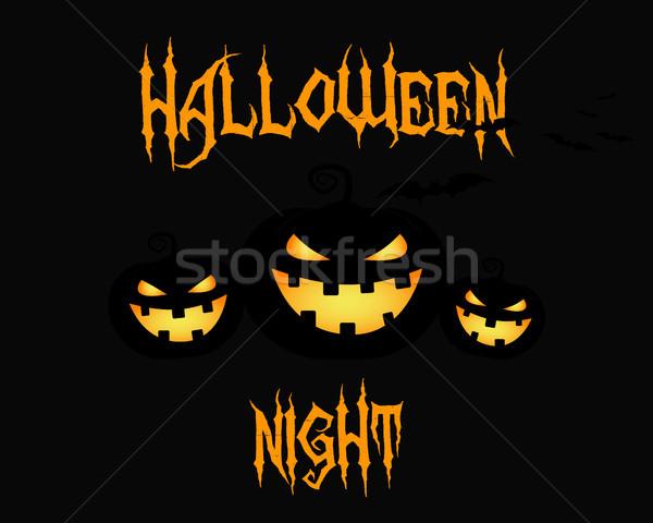 Happy Halloween party night card. halloween pumpkin, dark design. Background, poster and banner. Fla Stock photo © JeksonGraphics