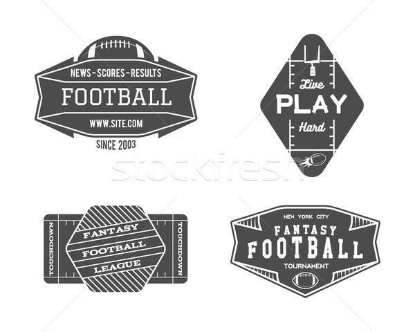 Amerikai futballpálya mértani csapat liga kitűző Stock fotó © JeksonGraphics