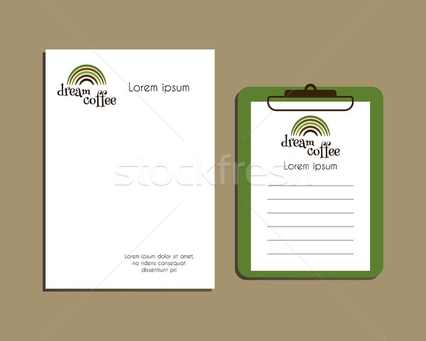Professional Corporate Identity kit or business kit. A4 and A5 size. With Green coffee logo design.  Stock photo © JeksonGraphics