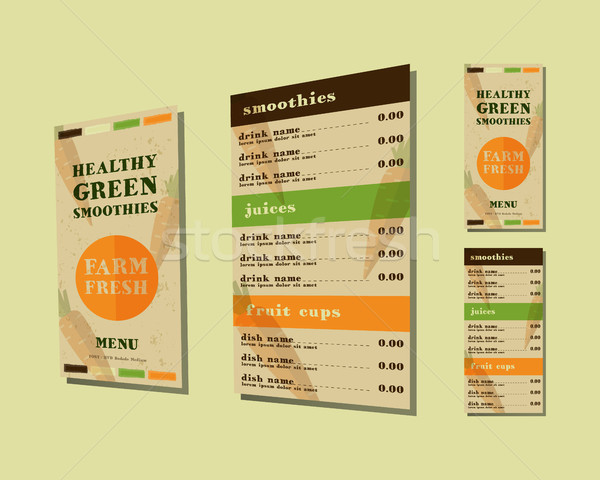 Plantaardige smoothie menu vector vers communie Stockfoto © JeksonGraphics