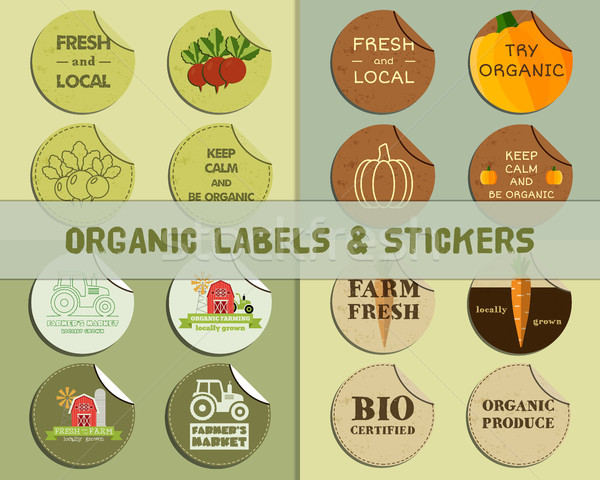 Stock photo: Organic Labels Set.