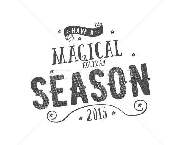 Alegre Navidad vector clipart Foto stock © JeksonGraphics